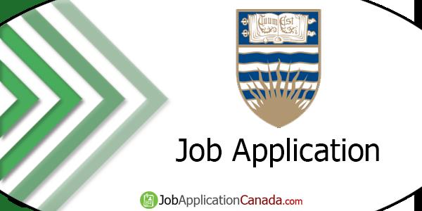 University of British Columbia Job Application