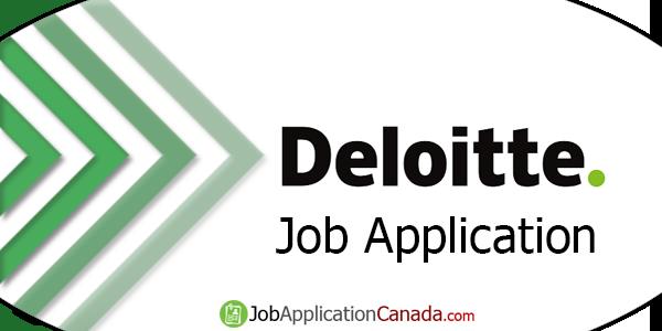 Deloitte Job Application